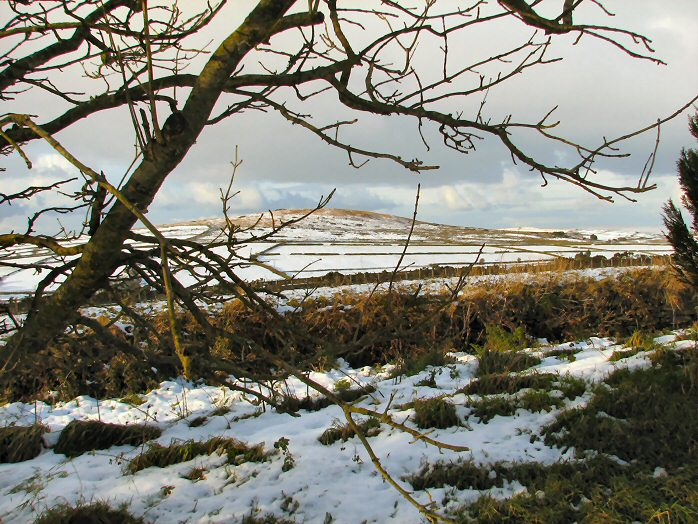Bodmin Moor on a cold snowy  day