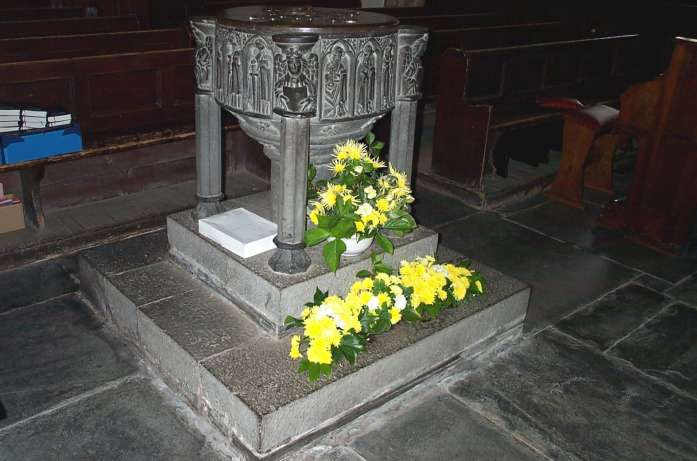 Padstow - Medieval Font, St. Petrocs