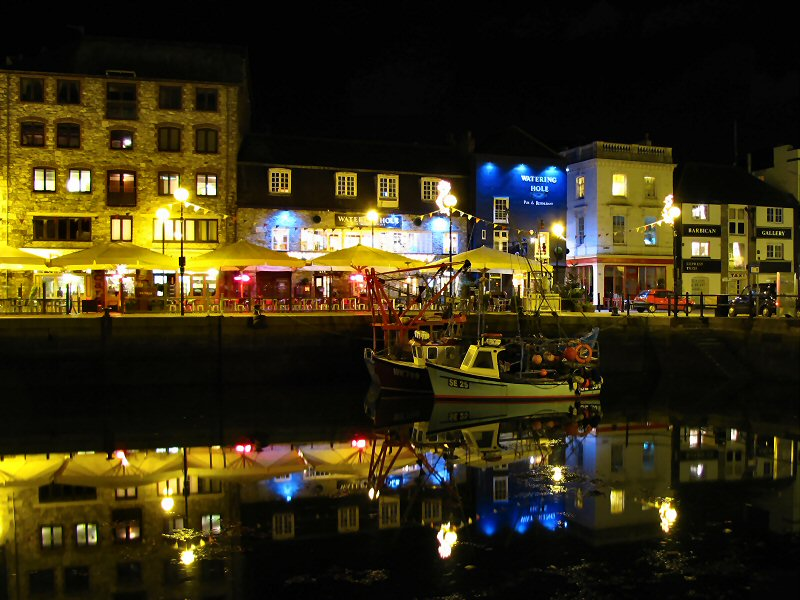 Plymouth Barbican at Night