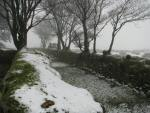 Snowy lane, near Merrivale