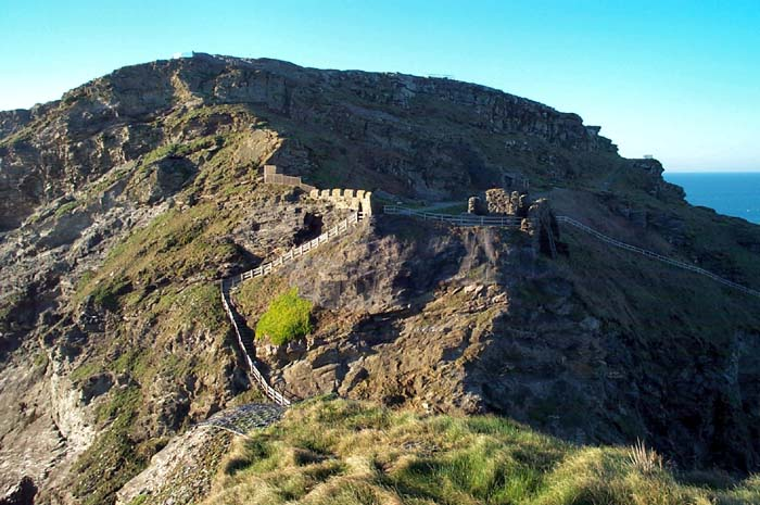 Tintagel Castle, steps to main ward
