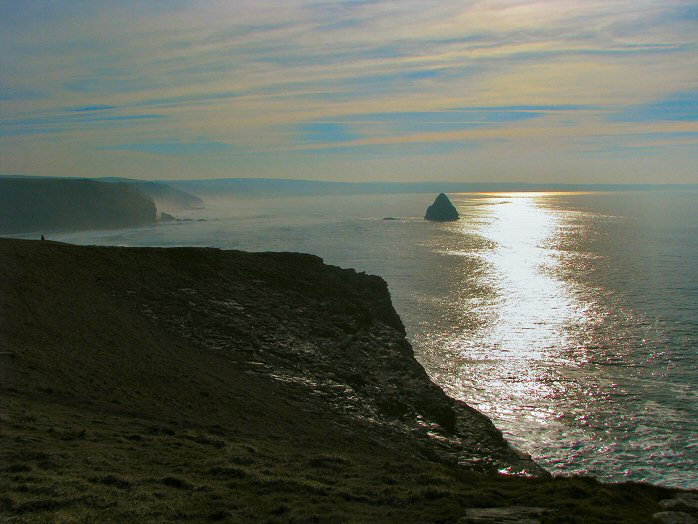 Looking towards Trebarwith Strand